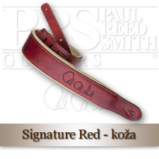 Signature Leather Strap (Red/Tan)