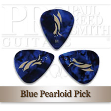 Blue Pearloid Plektrum